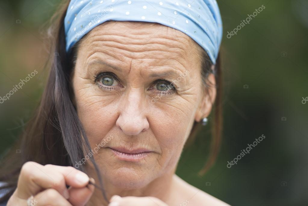Portrait sad thoughtful depressed woman