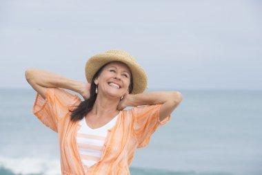 Happy joyful attractive mature woman