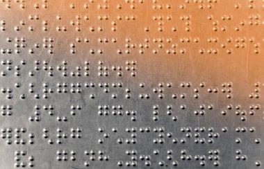 Braille dots background