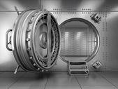 otevřít dveře trezoru banky