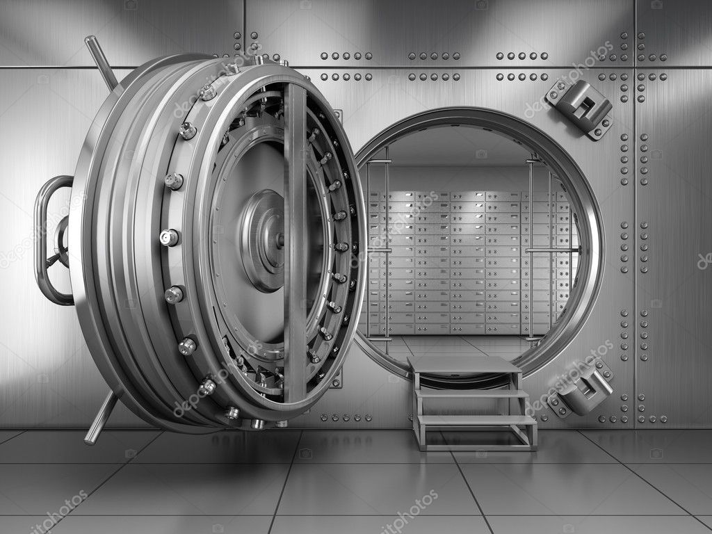 Open Bank Vault Door u2014 Stock Photo