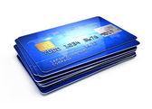 Fényképek verem a hitelkártyák