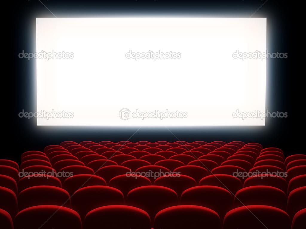 cinema auditorium with white screen — stock photo © sashkin7 #39596735