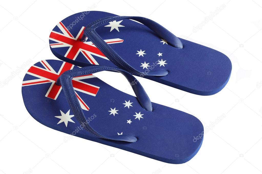 8eb9cef86da5 Australian Thongs - Flipflops — Stock Photo © jeayesy  24770949