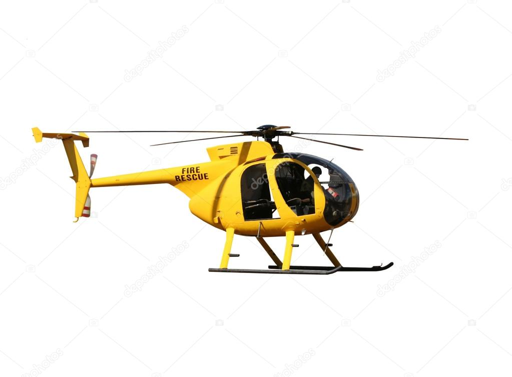 Elicottero Giallo : Elicottero di salvataggio giallo isolato — foto stock