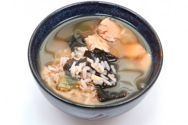 Bowl of organic iodine enriched gluten free seaweed and albacore gumbo