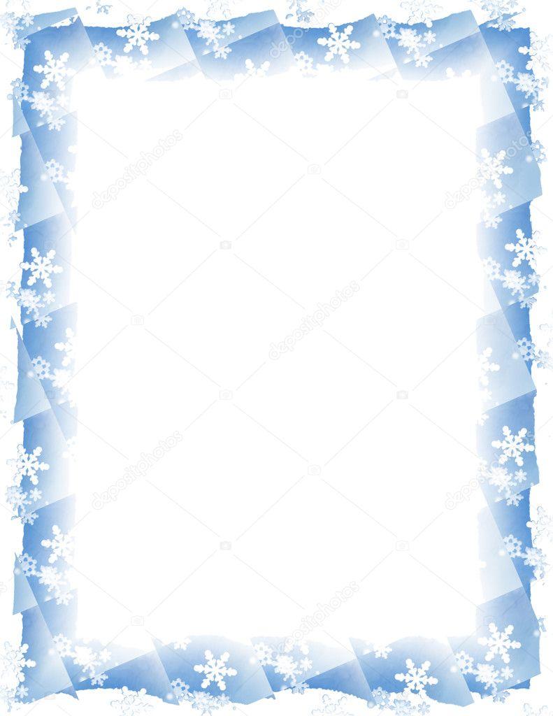 Schnee-Fliese-Rahmen weiß — Stockfoto © duplass #12783483