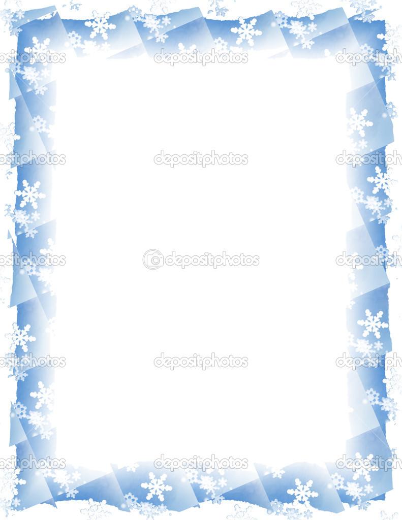 Schnee-Fliese-Rahmen weiß — Stockfoto © duplass #13191071