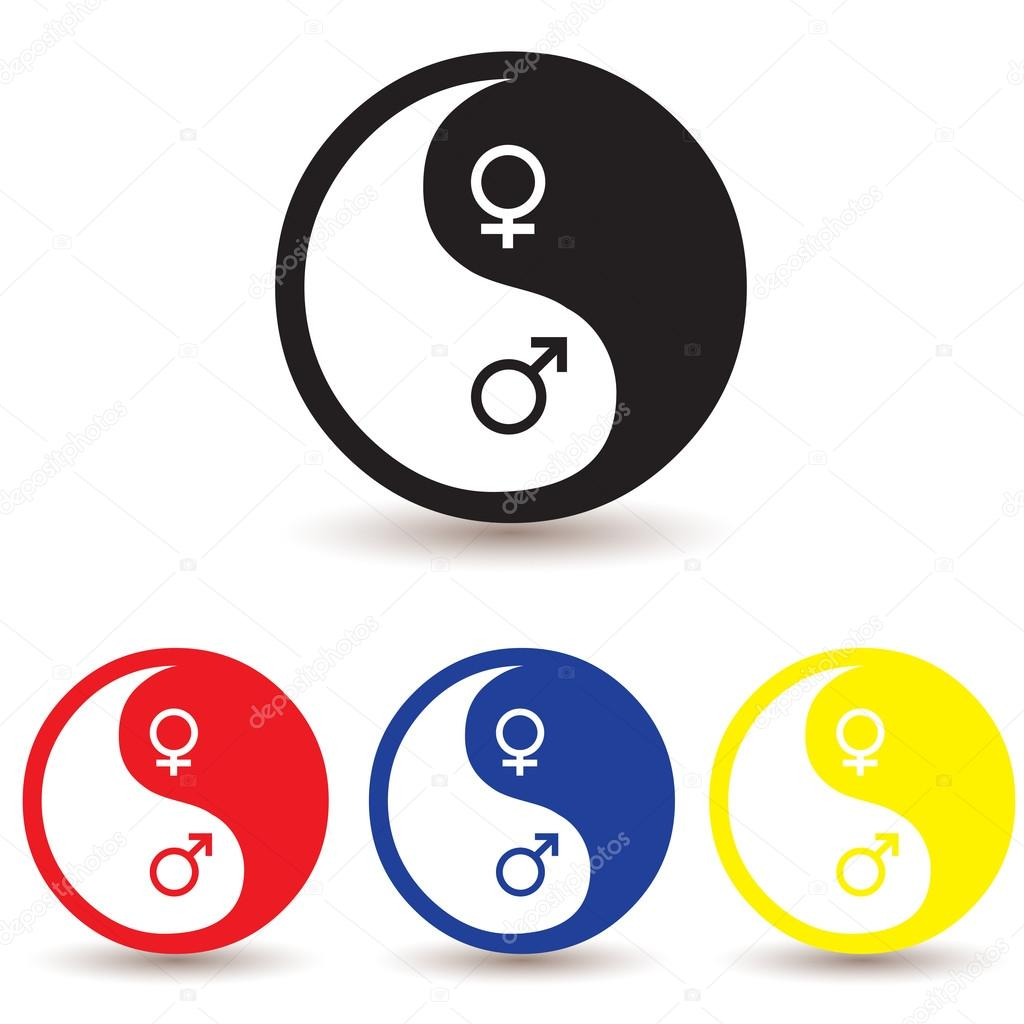 Yin Yang Male And Female Symbol Stock Vector Comzeal 20140277