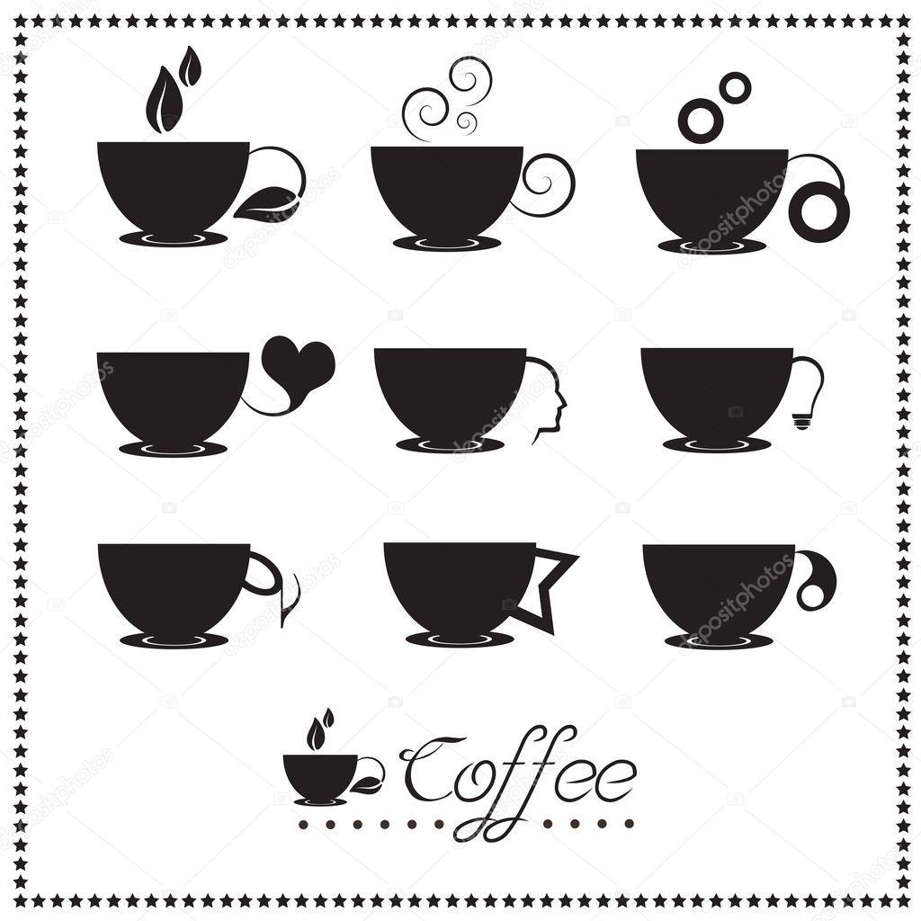 Coffee cup vector free - Coffee Cup Icon Set Tea Cup Vector Illustration Vector By Comzeal