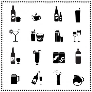 Set of drinks and beverages icons