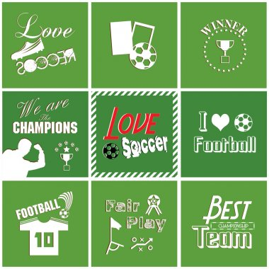 Soccer background with font, typography