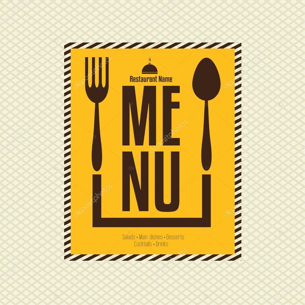plantilla de diseño de tarjeta de menú de restaurante — Archivo ...
