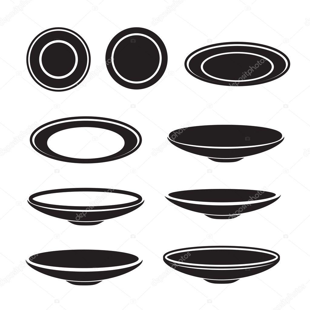 Dish icon, Vector illustration