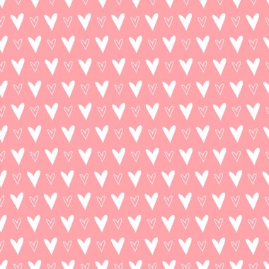 Seamless pattern with hearts. Valentines day background. Vector illustration clip art vector