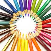 színes ceruzák, elszigetelt fehér background