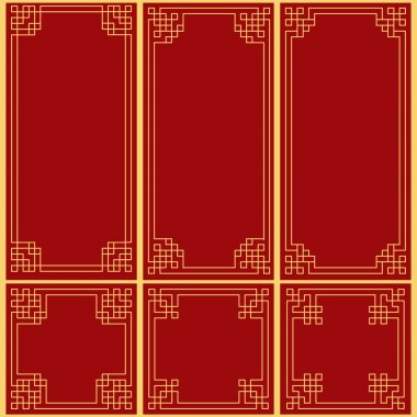 Chinese decorative frame stock vector