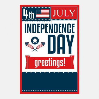 Independence day poster. 4 July. Vector illustration
