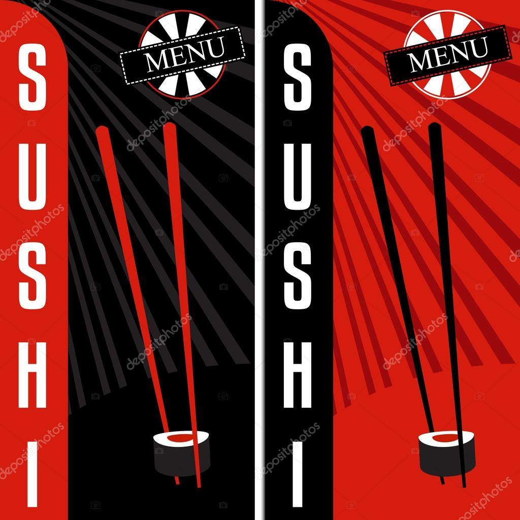 menú de sushi. plantilla de diseño del restaurante japonés — Archivo ...