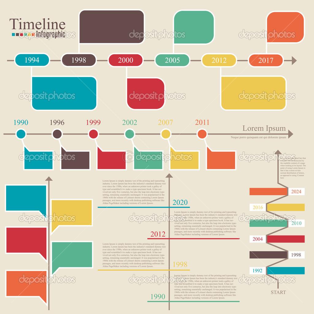 infografía de línea de tiempo. plantilla de diseño vectorial ...