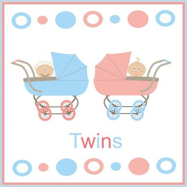 Strollers for twins pink and blue