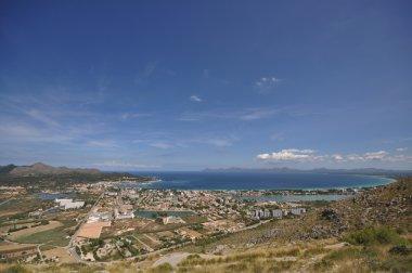 Alcudia bay panoramic. Mallorca. Balearic Islands. Spain