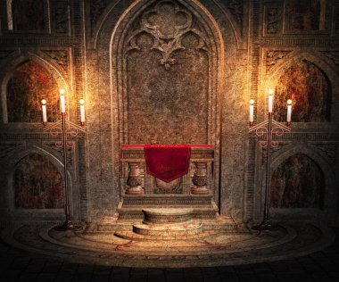 Gothic Altar Interior Background