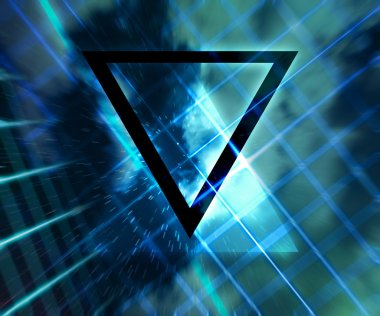 Blue Daft Punk Abstract Background