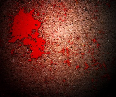 Thriller Blood on Grunge Wall