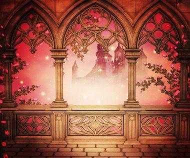Palace Balcony Background