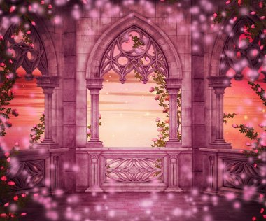 Princess Castle Fantasy Backdrop