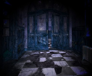 Blue Scary Interior