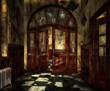 Scary Asylum Interior