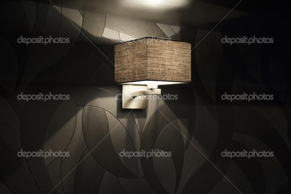 moderne muur lamp in de slaapkamer — Stockfoto © timonko #38471485