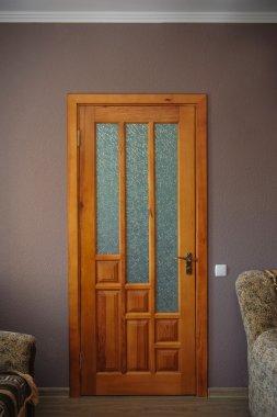 Wooden doors in the interior