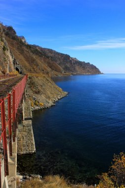 Cirum-Baikal Railway along Lake Baikal, Russia - Part of the Historic Trans-Siberian Railroad