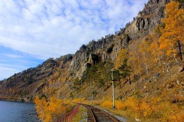 Cirum-Baikal Railway along Lake Baikal, Russia - Part of the Historic Trans-Siberian Railroad