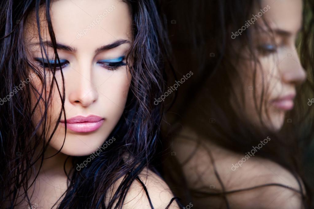девушка лицо макияж бесплатно