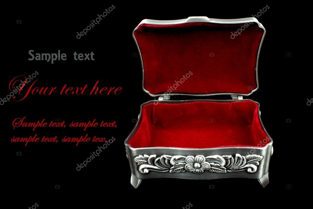Red velvet jewelry box Stock Photo hayatikayhan 14365457