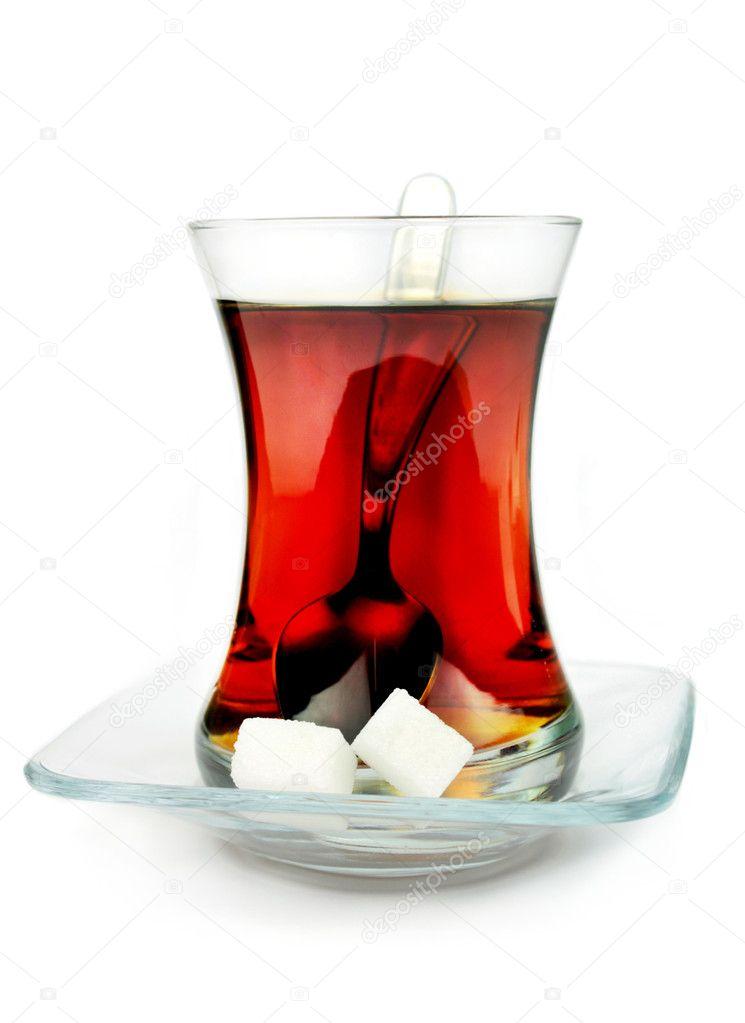 Turkish tea in traditional glass.