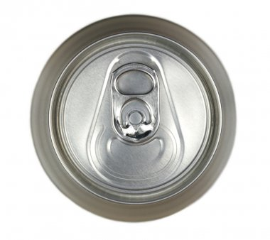 Aluminum drink can, top view