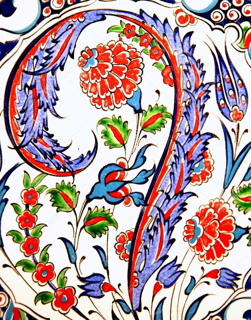 Türkische Blumen Gemusterten Fliesen Stockfoto Hayatikayhan - Fliesen auf türkisch