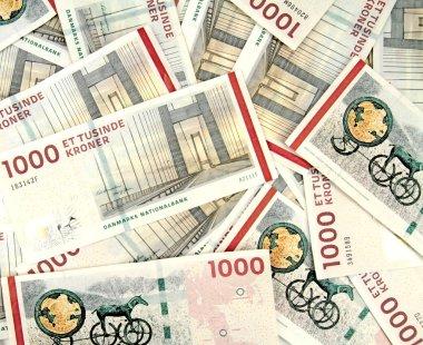 Scattered danish krone ( 10x1000 DKK )
