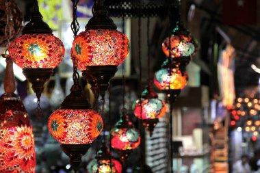 Turkish decorative colorful lamps .