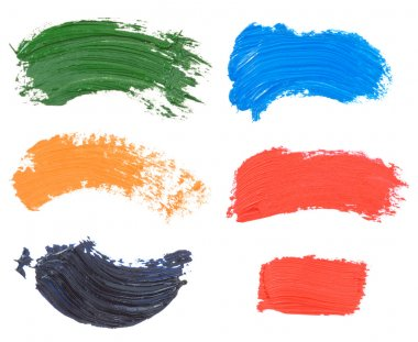 Oil paint spot isolated on white background stock vector