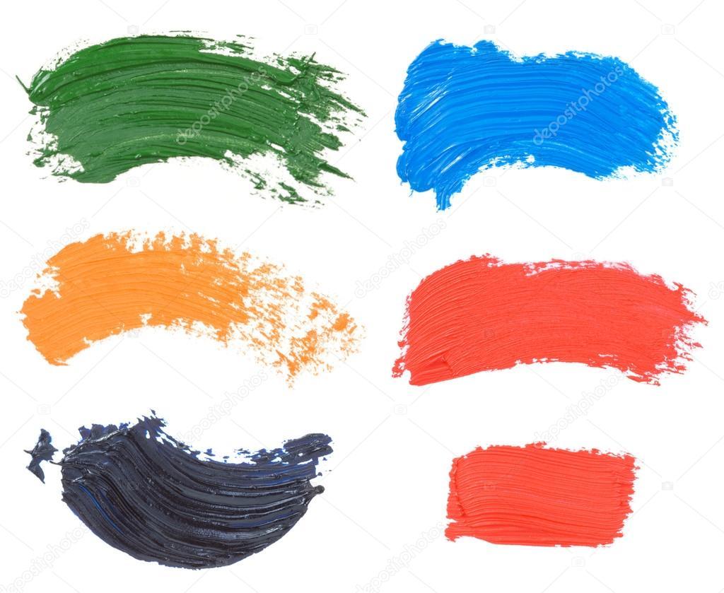 tache de peinture l 39 huile isol sur blanc photographie seregam 12447944. Black Bedroom Furniture Sets. Home Design Ideas