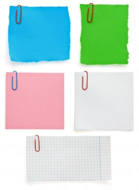 ragged note paper and clip