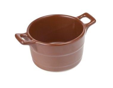 ceramic pot isolated on white