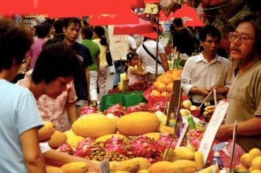 Kowloon City Market in Hong Kong, China
