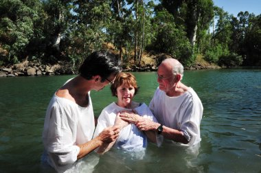 Baptism ceremony at the Jordan River